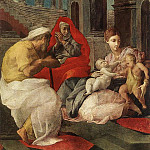 The Italian artists - PRIMATICCIO Francesco The Holy Family With Sts Elisabeth And John The Baptist