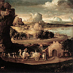 The Italian artists - CARPI Girolamo da Landscape With Magicians