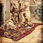 Итальянские художники - Maignon Ramon Tusquets Y Four Arabs Playing A Game Of Chance