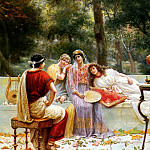 The Italian artists - Zoffoli A Classical Figures In A Garden