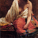 The Italian artists - Borgoni Mario A Harem Beauty