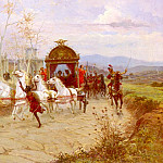 The Italian artists - Forti Eduardo Hadrians Departure From The Villa At Tivoli