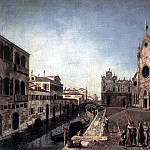 ALBOTTO Francesco View Of Campo Santi Giovanni E Paolo, The Italian artists