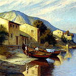 The Italian artists - Brinicardi F A Fishing Village