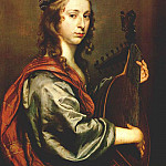 The Italian artists - MIJTENS Jan Lady Playing The Lute