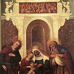 MAZZOLINO Ludovico Madonna And Child With Saints, The Italian artists