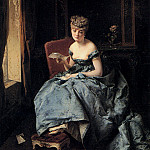 The Italian artists - Induno Domenico The Letter