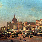 The Italian artists - Caffi Ippolito St Peters And The Vatican Palace Rome