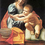 The Italian artists - Boltraffio Giovanni Antonio The Virgin and Child 1490s