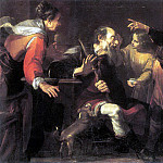 The Italian artists - ASSERETO Gioachino Tobias Healing The Blindness Of His Father