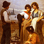 The Italian artists - Pastega Luigi The Fish Seller