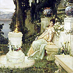 A lady on a marble bench in Ancient Rome. 1909, Kotarbinski William A. (1849-1922)