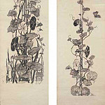 Kotarbinski William A. - Moth and bindweed (sketch panel), the beginning of the twentieth century. Corners