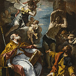 Sebastiano Ricci – A Glory of the Virgin with the Archangel Gabriel and Saints Eusebius, Roch, and Sebastian, Los Angeles County Museum of Art (LACMA)