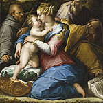 Holy Family with Saint Francis in a Landscape, Giorgio Vasari