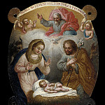 Los Angeles County Museum of Art (LACMA) - Jose de Paez - Badge with Adoration of the Shepherds (Escudo con la adoracion de los pastores)