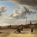 Adriaen van de Velde – The Beach Scheveningen, Los Angeles County Museum of Art (LACMA)