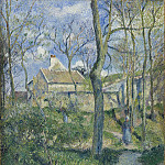 The Path to Les Pouilleux, Pontoise, Camille Pissarro