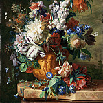 Bouquet of Flowers in an Urn, Jan Van Huysum
