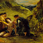 Los Angeles County Museum of Art (LACMA) - Eugene Delacroix - St. Sebastian with St. Irene and Attendant