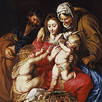 Peter Paul Rubens – The Holy Family with St. Elizabeth, St. John, and a Dove, Los Angeles County Museum of Art (LACMA)