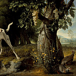 Alexandre Francois Desportes – Landscape with a Dog and Partridges, Los Angeles County Museum of Art (LACMA)