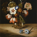 Flowers in a Glass Vase, Jan De Braij
