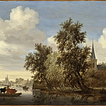 Salomon Jacobsz van Ruysdael – River Landscape with a Ferry, Los Angeles County Museum of Art (LACMA)