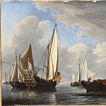 A Yacht and Other Vessels in a Calm, Willem van de Velde the Younger