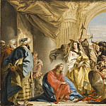 Giovanni Domenico Tiepolo – Christ and the Woman taken in Adultery, Los Angeles County Museum of Art (LACMA)