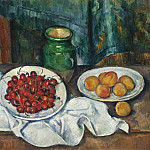 Still Life With Cherries And Peaches, Paul Cezanne