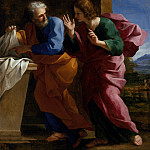 St. John and St. Peter at Christ′s Tomb, Giovanni Francesco Romanelli