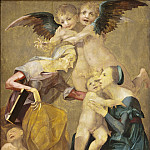 called Rosso Fiorentino Giovanni Battista di Jacopo – Allegory of Salvation with the Virgin and Christ Child, St. Elizabeth, the Young St. John the Baptist and Two Angels, Los Angeles County Museum of Art (LACMA)