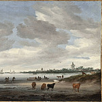 Salomon Jacobsz van Ruysdael – View of the River Lek and Vianen, Los Angeles County Museum of Art (LACMA)