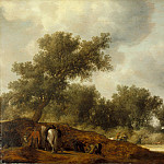 Salomon Jacobsz van Ruysdael – Landscape with Deer Hunters, Los Angeles County Museum of Art (LACMA)