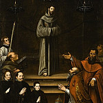 Antonio Montufar – Saint Francis of Assisi Appearing before Pope Nicholas V, with Donors , Los Angeles County Museum of Art (LACMA)