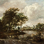 Los Angeles County Museum of Art (LACMA) - Meindert Hobbema - Landscape with Anglers and a Distant Town