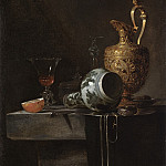 Willem Kalf – Still Life with a Porcelain Vase, Silver-gilt Ewer, and Glasses, Los Angeles County Museum of Art (LACMA)