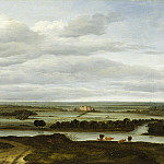 Los Angeles County Museum of Art (LACMA) - Anthonie Van Borssom - Panoramic Landscape near Rhenen with the Huis ter Lede