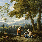 Jan Frans van Bloemen – One of a Pair of Views of the Roman Campagna with Figures Conversing, Los Angeles County Museum of Art (LACMA)