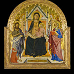 Los Angeles County Museum of Art (LACMA) - Don Silvestro dei Gherarducci (attributed to) - Madonna and Child with Sts. John Baptist and Paul (?)