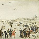 Los Angeles County Museum of Art (LACMA) - Hendrick Avercamp - Winter Scene on a Frozen Canal