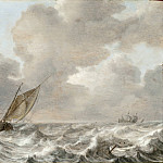 Jan Porcellis – Vessels in a Moderate Breeze, Los Angeles County Museum of Art (LACMA)
