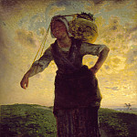 Los Angeles County Museum of Art (LACMA) - Jean-Francois Millet - A Norman Milkmaid at Greville