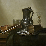 Willem Claesz. Heda – Still Life with Tobacco, Wine and a Pocket Watch, Los Angeles County Museum of Art (LACMA)