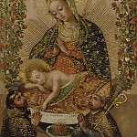 Los Angeles County Museum of Art (LACMA) - Unknown - The Virgin Adoring the Christ Child with Two Saints (La Virgin adorando al Nino Jesus con dos santos)