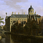 The Nieuwezijds Voorburgwal with the Flower Market in Amsterdam, Gerrit Adriaensz Berckheyde