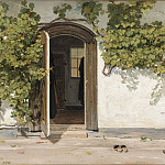 Los Angeles County Museum of Art (LACMA) - Martinus Rorbye - Entrance to an Inn in the Praestegarden at Hillested