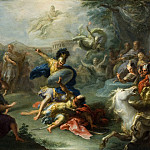 Los Angeles County Museum of Art (LACMA) - Giacomo del Po - The Fight between Aeneas and King Turnus