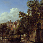 Los Angeles County Museum of Art (LACMA) - Jan van der Heyden - Herengracht, Amsterdam, Viewed from the Leliegracht